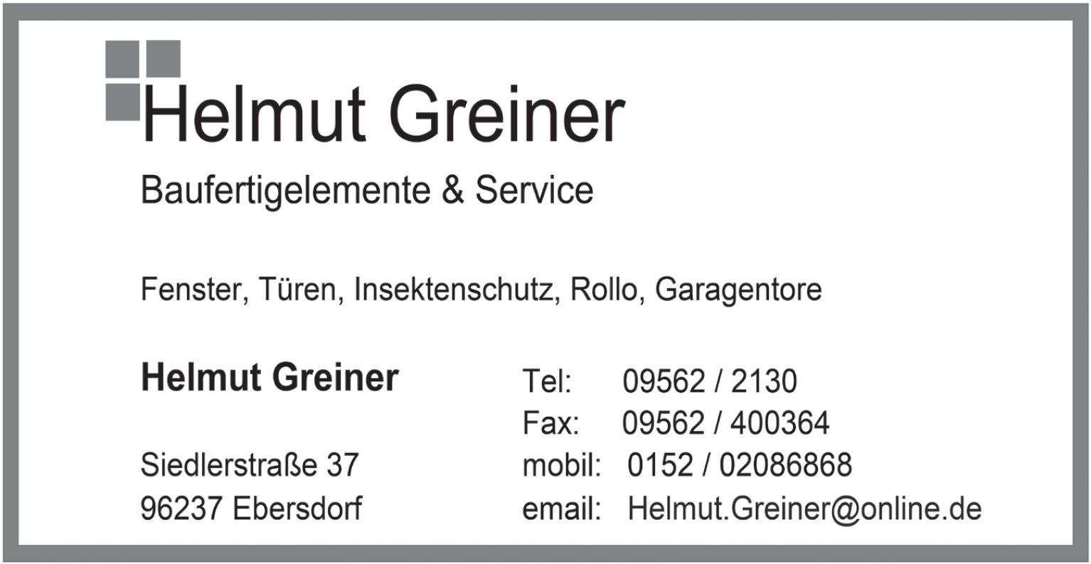 Helmut Greiner
